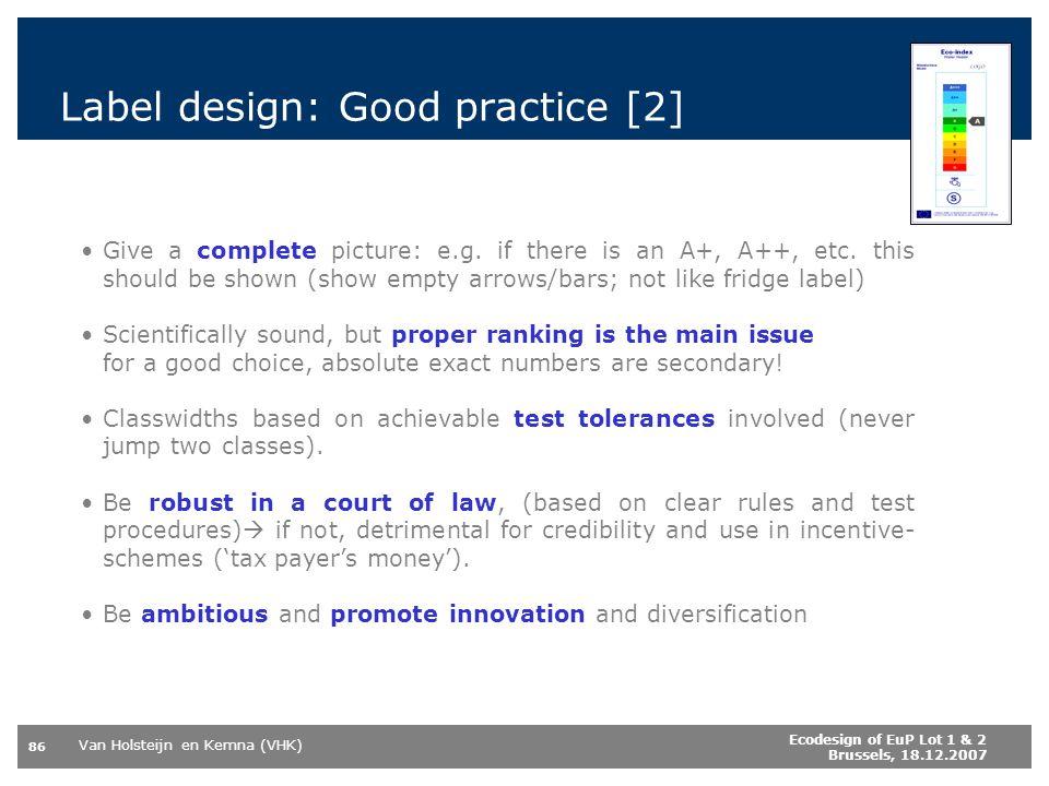Label design: Good practice [2]